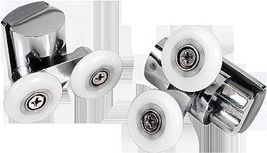 Schuifdeurrol 1 stks-zine-legering glazen deur lager dubbele roller katrol badkamer schuifpoort rollen runner rubberen wie...