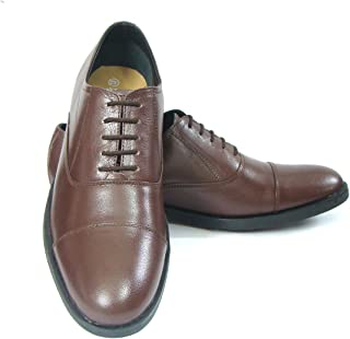 ASM Pure Leather Tan Oxford Shoes with TPR (Thermo Plastic Rubber) Sole, Leather Insole, Fully Leather Lining and Memory Foam for Optimum Comfort for Men 5 to 15