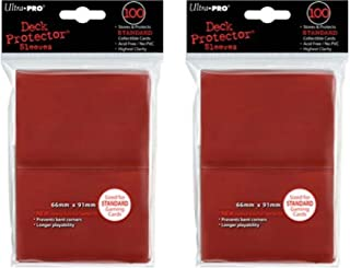 200 Ultra-Pro Red Deck Protector Sleeves 2-Packs - Standard Magic the Gathering Size