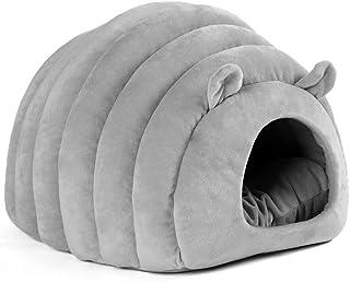 猫ハウス 猫ベッド ドーム型 犬猫 マット クッション 寒さ対策 保温防寒 快適 柔らかい 暖かい 小型犬 キャットハウス 休憩所 寝床
