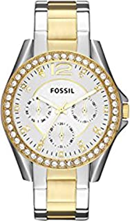 Fossil Women's Silver Dial Stainless Steel Band Watch - ES3204
