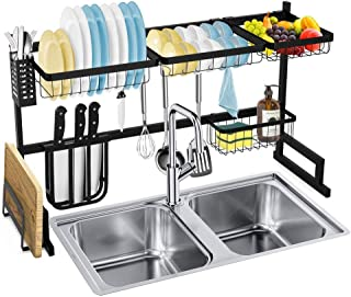 rangement et organisation de cuisine Vaisselle Etendoir dessus de l'évier, égouttoir étagère for la cuisine Fournitures de...