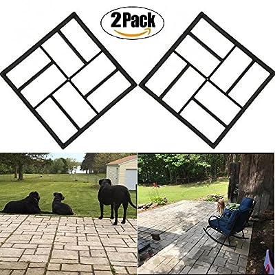 Path Pavement Mold Walk Maker, Ponydash DIY Personalized Manual Pathmate Stone Path Mate Reusable Concrete Cement Stone Mold Design Paver Walk Maker