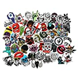 Skull Stickers Pack Laptop Decals Vinyl Crazy Horror Creepy Mouth Sticker Bomb for Water Bottle Car Luggage Bicycle Motorcycle Computer Skateboard Graffiti (50pcs)