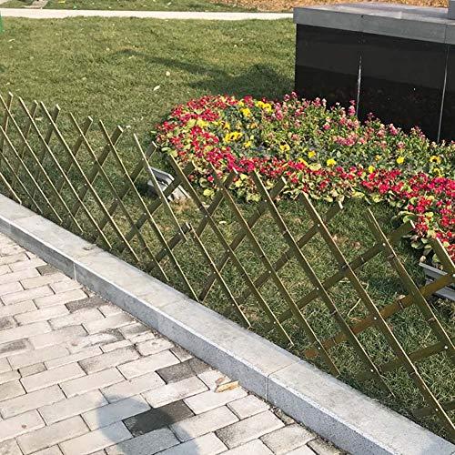 JIANFEI-weilan tuinhek insteekhek tuinscheidingswand plantenplank bamboe hek uitbreidbaar, 4 maten