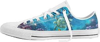 Sea Turtle Art Unisex Classic Canvas Lace Up Shoes Sneakers For Men & Women
