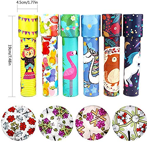 Magic Kaleidoscope Kit Classic Rotating Tin Kaleidoscope Game Educational Toys Puzzle Decompression Toy Gift for Kids & Adults,6 Pack