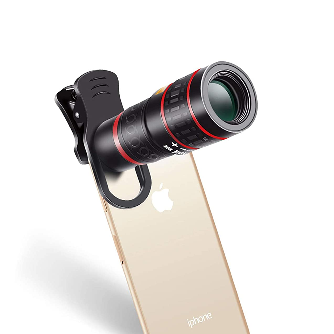 DOSOMI Mobile Phone Lens Universal Clip 18X 20X Zoom Cellphone Telescope Lens Telephoto Camera Lens,8X Lens