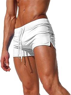 Men's Swim Trunks Quick Dry Sports Shorts Beach Swimwear with Back Zipper Pocket