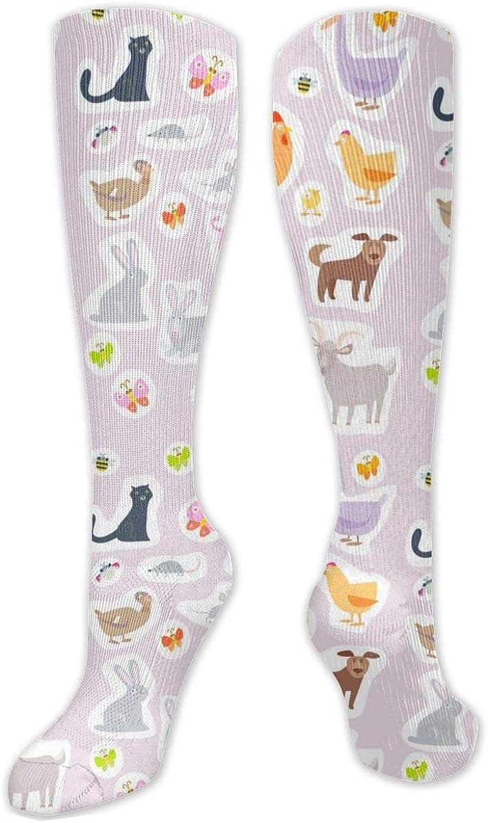Lovely Animals Knee High Socks Leg Warmer Dresses Long Boot Stockings For Womens Cosplay Daily Wear