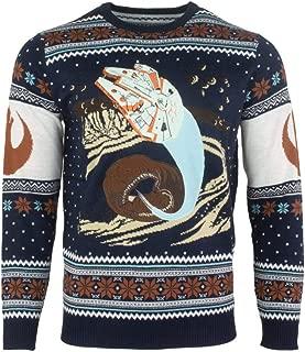 Ugly Christmas Sweater Millennium Falcon Space Slug Escape for Men Women Boys and Girls