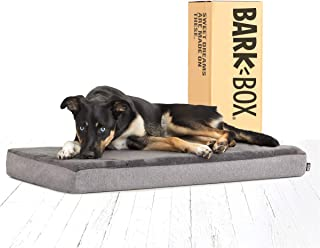 BarkBox Memory Foam Dog Bed | Plush Orthopedic Joint Relief Mattress Machine Washable + Removable Cover; Waterproof Lining...