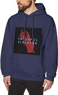 MSamotee Interpol El Pintor Teenagers Shirt Hoodies Avant-gardeBlack Hooded Sweatshirt for Mens