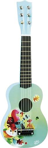 Vilac - 8349 - Guitare en Bois Illustrée sur Le Thème de la Forêt