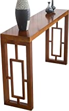 Coffee Table Solid Wood Console Table, Living Room Wall Table, Narrow Table, Side Table 31.4x11.8x31.4 Inches