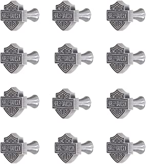Harley-Davidson Ace Products HDL-10110 Antique Pewter Finish Custom Zinc Cast Cabinet Knobs - Quantity 12