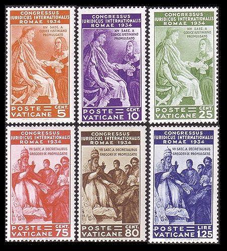Goldhahn Vatikan Nr. 45-50  Juristenkongre 935  Briefürken für Sammler