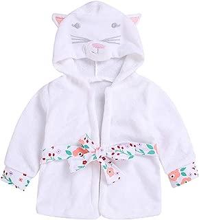 Baby Toddler Girl Coral Fleece Bathrobe Animal Hooded Towel Robe Sleepwear 1-5T