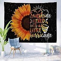 ひまわりタペストリー黄色い花アート壁掛けタペストリーINS女の子ボヘミアンタペストリーカラフルな家の装飾60x52inch