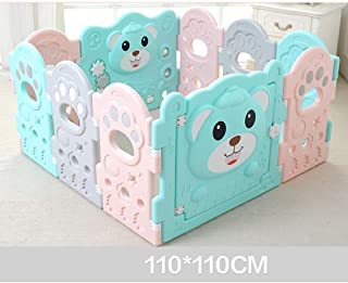 FJFSC Baby Fence Children Indoor Home Baby Toddler Game Fence Fence Child Crawling Mat Fence  Size 110CM 110CM