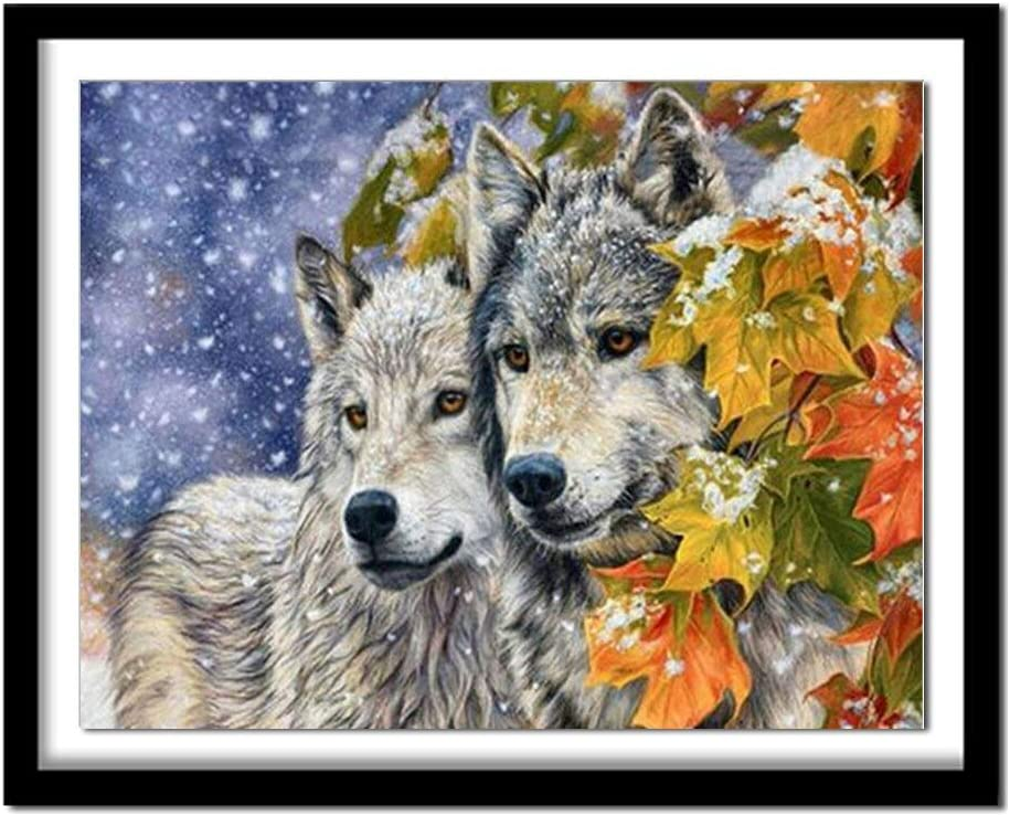 DIY Paint by Numbers for Adults Fashion 80X60cm Wolf Max 50% OFF Kids Animals 485Atk