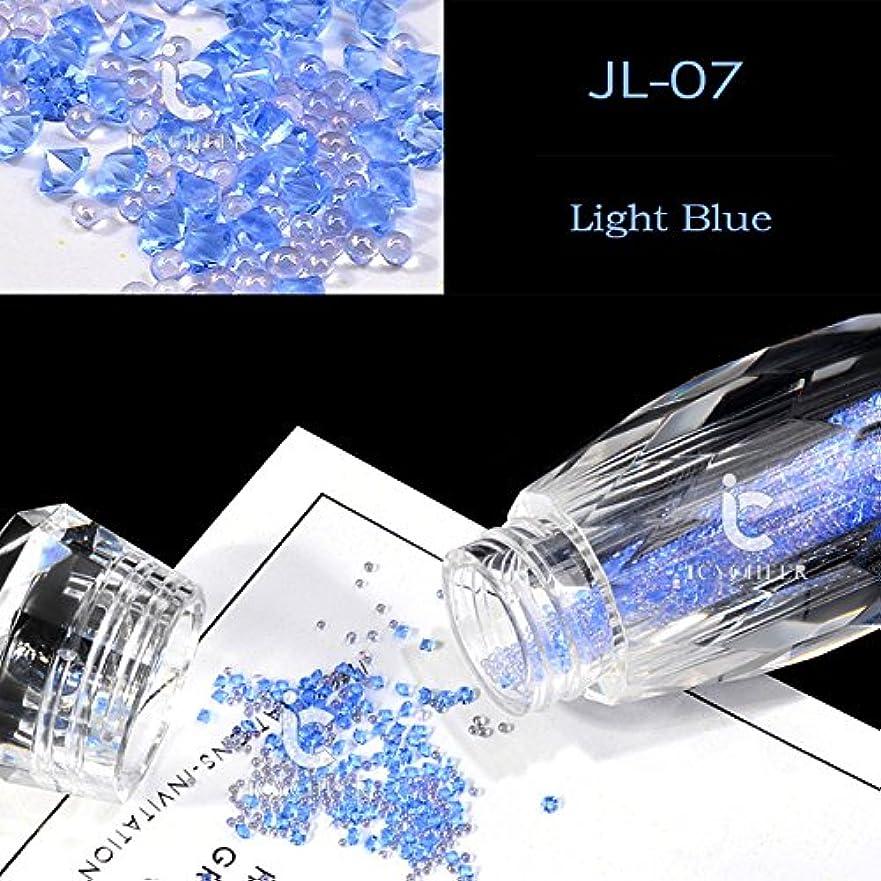 役に立たない放映オーストラリア人ICYCHEERネイルグリッターABクリスタルガラスマイクロネイルアート眩しいキャビアビーズ3Dピクシーマーメイドネイルのヒントマニキュアデコレーション (JL07)