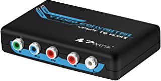 Component to HDMI Converter, Portta YPbPr Component RGB + R/L Audio to HDMI Converter v1.3 Support 1080P 24bit 2 Channel Audio LPCM for HDTV PS3 PS4 HDVD Player Wii Xbox and More