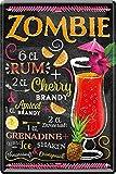 Blechschilder Zombie Cocktail – Alkohol Deko Schild für