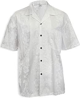 Wedding Hawaiian Shirt Hibiscus Panel Authentic Hawaii Made