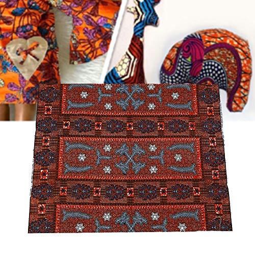 HEEPDD 100% katoen Afrikaanse stof dual-side etnische stijl geverfde doek Wax stof voor naaien jurk Handtas Rok hoofd wraps 6 Yard