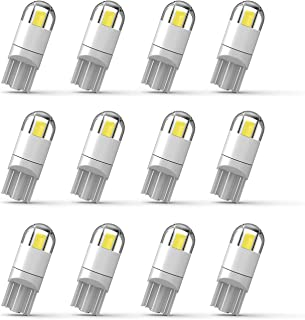 194 LED Bulb 3030 Chipset T10 194 168 SMD W5W LED Wedge Light 1.5W 12V License Plate Light Courtesy Step Light Turn Light Signal Light Trunk Lamp Clearance Lights (12pcs/pack)