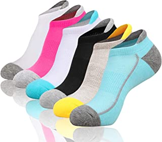Womens Low Cut Ankle Athletic Socks Cushioned Running Performance Breathable Tab Sock 6 Pack