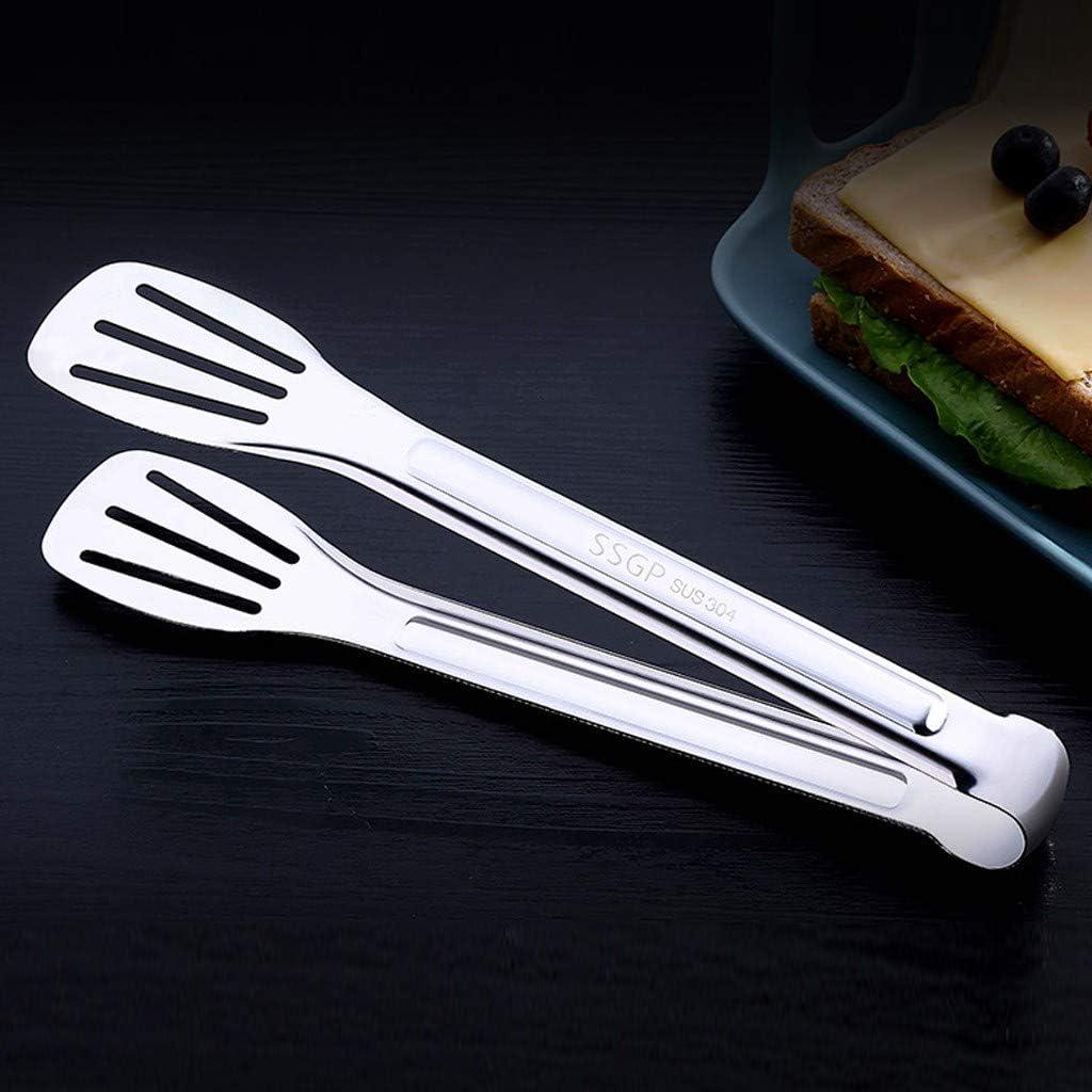 Sulifor Edelstahl Anti-Verbr/ühungsbrot Fleischb/ällchen Steakzange Grillzange Backwerkzeug Lebensmittelzange Grillzange zum Kochen 12 Zoll 9 Zoll und 12 Zoll Grillen und Buffet