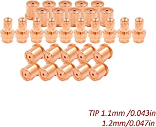 Plasma Electrode Drag Tip Kit for Eastwood Versa-Cut 40amp Cutter Trafimet CB50 Torch Consumables (1.1mm 1.2mm) 30pcs