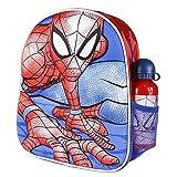 Cerdá, Mochila con Botella de Agua Infantil de Spiderman-Licencia Oficial Marvel Studios Unisex...