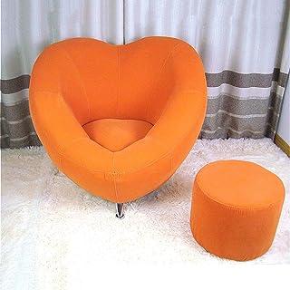 Amore Divano Divano Pigro Divano in Tessuto Carino for Il Tempo Libero Divano Creativo Camera da Letto (Color : Orange)