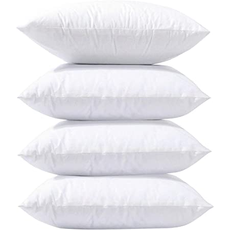 Phantoscope 18 x 18 Pillow Inserts, Set of 4 Hypoallergenic Square Form Decorative Throw Pillow Inserts Couch Sham Cushion Stuffer - 18 inches