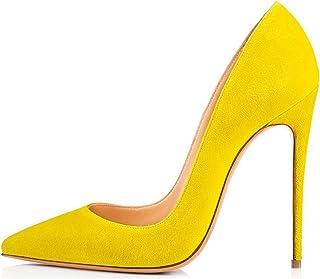 de088c971c9 Amazon.es: Amarillo - Zapatos de tacón / Zapatos para mujer: Zapatos ...