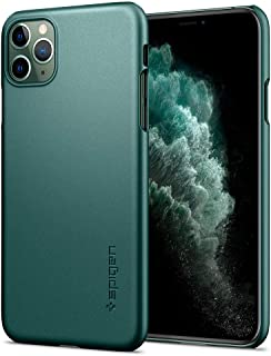 Spigen Thin Fit designed for iPhone 11 PRO case cover - Midnight Green