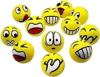 SIMUER Pelota Anti-Presión Pelota Emoji Estrés Cara Juguete Descompresión Pelota Emoji Niños Adultos 12PCS