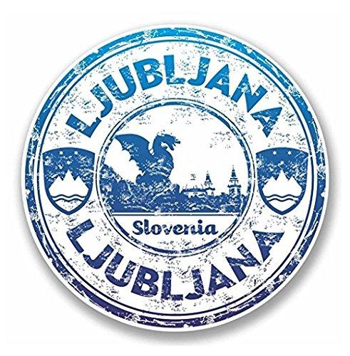 3 Pack - Ljubljana Slovenia Vinyl SELF ADHESIVE STICKER Decal - Sticker Graphic - Construction Toolbox, Hardhat, Lunchbox, Helmet, Mechanic, Luggage