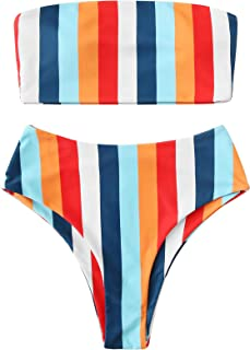 Best striped high waisted bikini bottoms Reviews