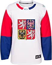 adidas Czech Republic NHL White 2016 World Cup of Hockey Premier Away Jersey for Men