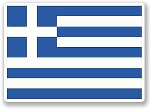 10cm Greece Flag Vinyl Sticker Luggage Travel Bike Laptop Helmet Greek  4872  10cm Wide 7cm Tall