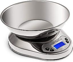 balança eletrônica de aço inoxidável, balança de cozimento de 0,1 g de alta precisão, balança de cozinha balança inteligente.