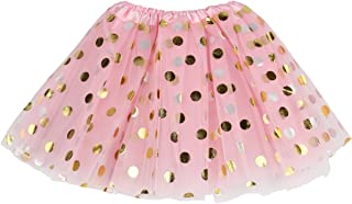 Jastore Baby Girls' Polka Dot Tutu Glitter Ballet Triple Layer Tulle Dance Skirt