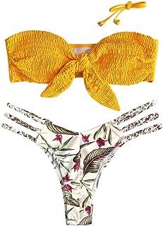 5f980ebfe45b riou Bikini Conjuntos de Bikinis para Mujer Push Up Mujeres Traje de BañO  Estampado Bohemio Dividido