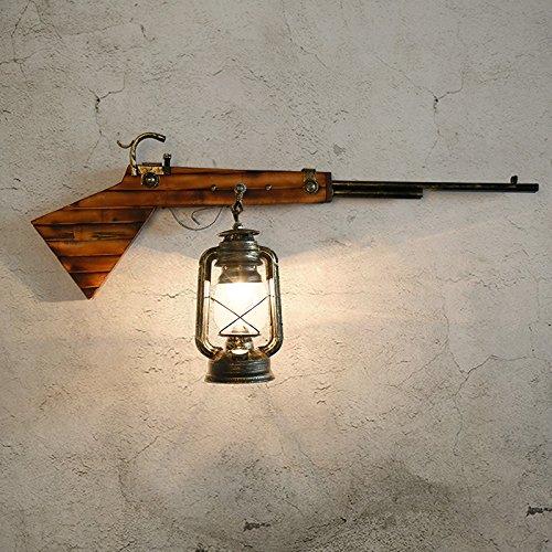 YFF@ILU Verkauf mit Preisnachlass Dorf im westlichen Stil Eisen Gewehre Wandleuchten