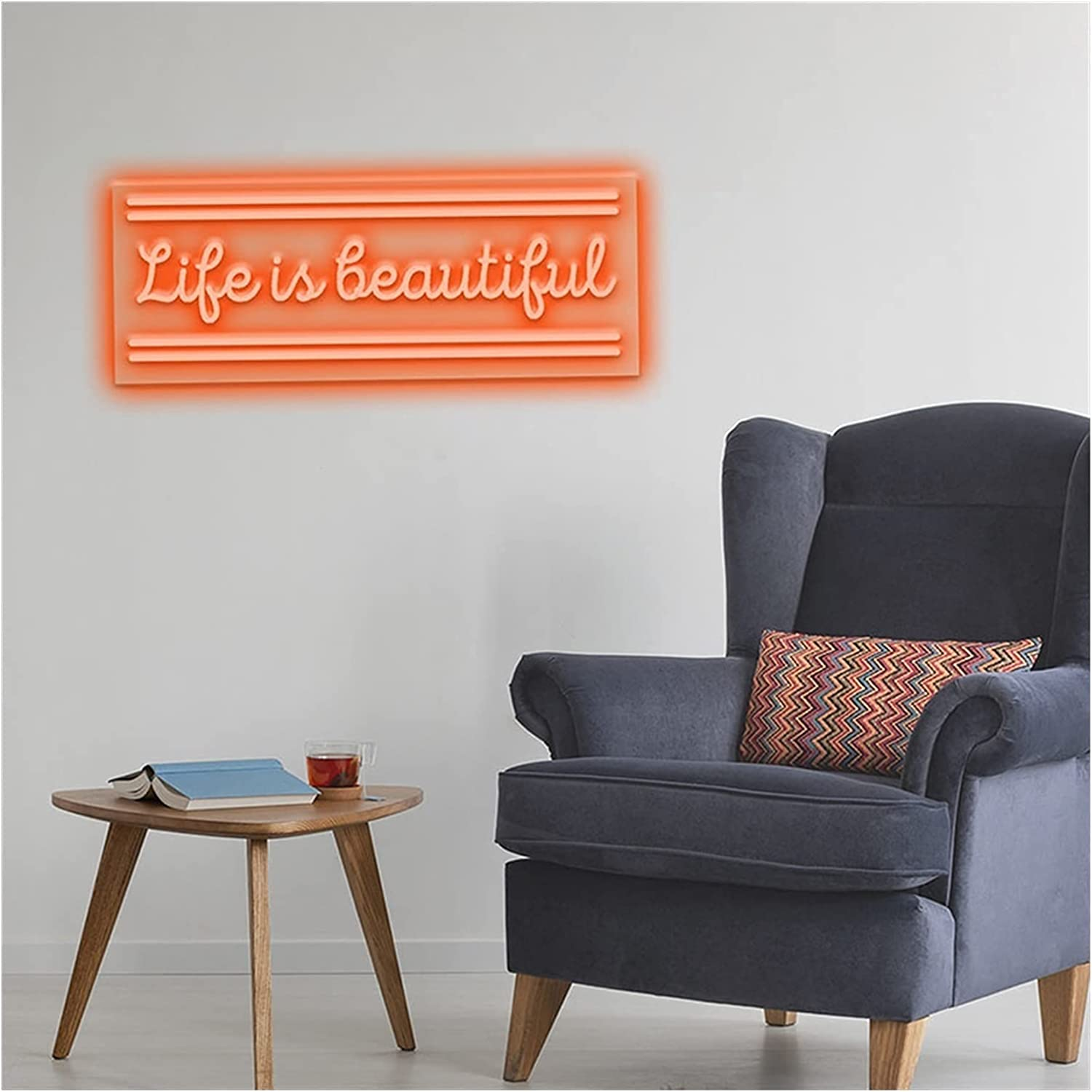Neon Signs Wall Sign Custom New sales Lighting Home Room for latest L House Decor
