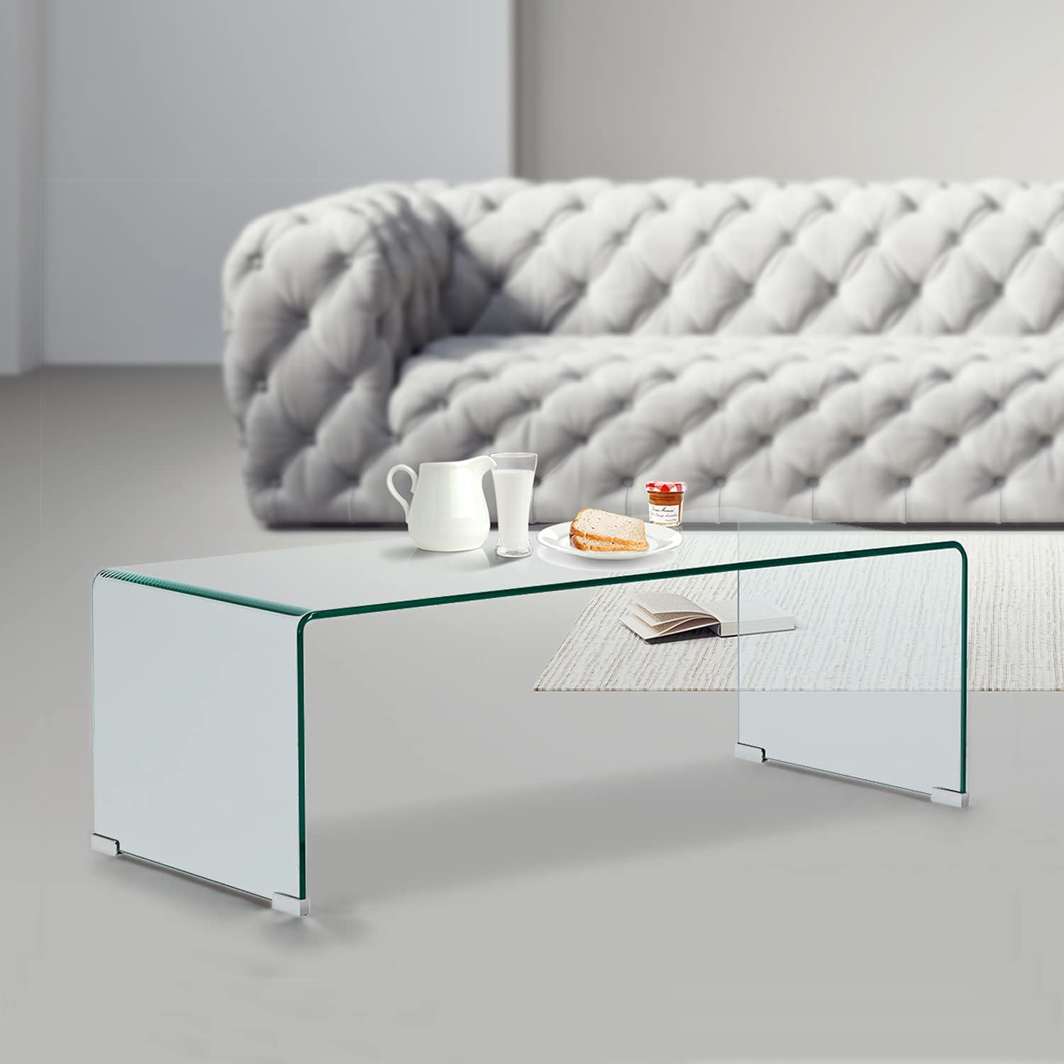 price Thicken 10MM Tempered Glass Coffee Decor Tables Modern Clear Max 70% OFF Co